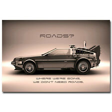 Back To The Future Classic Movie Car Art Silk Poster 24x36 inch