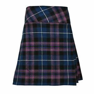 """Scottish Ladies Pride Of Scotland Skirt 20"""" Length Tartan Pleated Ladies Kilt"""