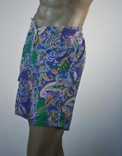 Ralph Lauren Purple Paisley Surf Board Trunks/RL Label -Yellow Pony-NWT
