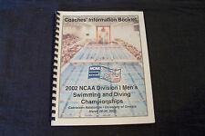 2002 NCAA Division I Men's Swimming and Diving Championships coaches booklet