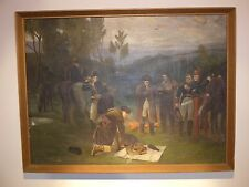 OLD NAIVE OIL PAINTING GENERAL NAPOLEON BONAPARTE MILITARY REGIMENT FOOT ARMY