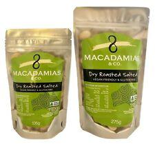 Roasted Salted Macadamia Nuts - 135g, 275g & 1.25kg