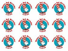 108 Dr Seuss Hershey Kiss Labels Favors Stickers Personalize Changes OK