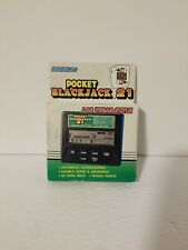Radica Pocket Blackjack 21 Model 1350 Handheld Travel Video Game New Deadstock