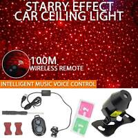 USB Car Interior Atmosphere Starry Sky Lamp Ambient Star Light LED Projector UK