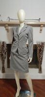 ANTONIO MELANI Grey Striped 2-Piece Business/Career Skirt Suit-Size 8