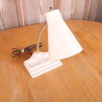 Vintage Lamp Gooseneck Adjustable Desk Lamp Retro Mid Century Plastic