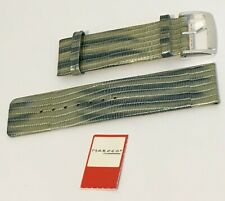 Quality Vintage 26mm MARCCO by HIRSCH Leather Watch Strap Band Multi Green