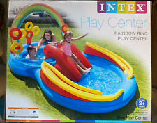 """Intex Rainbow Ring Inflatable Play Center 117"""" X 76"""" X 53"""" 🔥IN HAND🔥"""