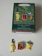Hallmark Ornament 2000 GREEN EGGS AND HAM NEW Dr. Seuss Miniature Set Black Hat
