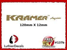 Kramer Guitar Headstock Decal Waterslide Inlay Logo 137b