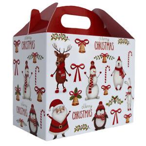 10 x SANTA SNOWMAN RUDOLPH CHRISTMAS GABLE GIFT BOXES - XMAS Gift Hamper Box