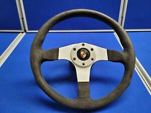 Suede Steering wheel with Boss and Porsche Center Cap