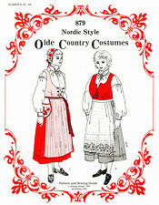 Nordic Style Olde Country Costumes Jumper Blouse Apron Bag 18-28 Sewing Pattern