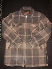 Vtg Woolrich Wool Plaid Faux Fur Lined Heavy Winter Jacket - Men's Size Large