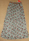 NEW SOUTH GREY/PINK FLORAL CHIFFON SKIRT Size 8