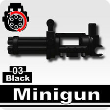Minigun (W226) Machine Gun compatible with toy brick minifigures Army