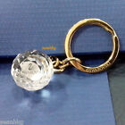 Swarovski Crystal Ball Key Ring Holder, Swan Logo Gold-Plated Gift MIB 941219
