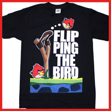 Angry Birds T Shirt Flip the Bird Adult Men Size Licensed AB Tee (S to XL)