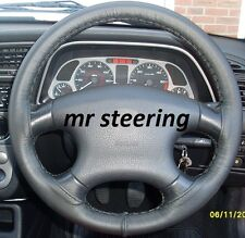 FOR PEUGEOT 406 TOP QUALITY BLACK LEATHER STEERING WHEEL COVER