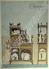 PLANCHE COULEURS ART NOUVEAU 1898 Crédence Paquet ART DECORATIF MODERNE CHAMPIER