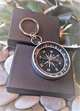 Functioning Compass Keyring. Dad Father Gift Boxed
