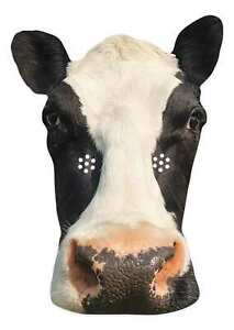 Cow Animal 2D Single Card Party Mask - Countryside Farmyard Cattle World Book
