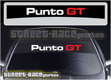 SS837 Fiat sunstrip graphics stickers decals windscreen sun visor Punto GT