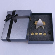 Star Trek Badge Star Trek Voyager Communicator Pin Rank Pin Set Brooches Gift