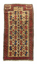 Outstanding, Bold, Rare Antique Baluch Persian Prayer. Dehati.1