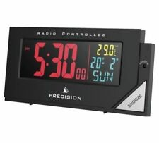 Precision Radio Controlled Multi Colour Display LCD Digital Alarm Clock AP056
