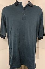 Greg Norman Shark Short Sleeve Golf mercerized 2-ply cotton houndstooth Large