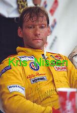 Kris Nissen ALFA ROMEO 155 v6 Team schübel 1994 foto originale in 20 x 30cm