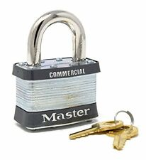 "Master Lock 5KA A389 2"" Wide Laminated Steel Pin Tumbler Padlock, Keyed Alike"
