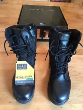 Mens 5.11 Tactical Black ATAC Storm Side Zip Field Duty Uniform Work Boot NIB