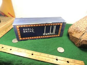 DUNHILL TANSHELL PIPE BOX IN  LARGE TALL FONT VERY USED CONDITION BLUE 1960'S