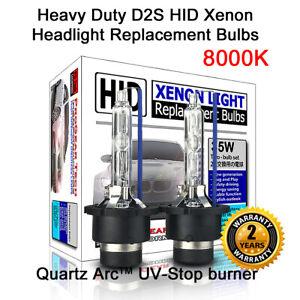 Heavy Duty D2S 8000K HID Xenon Headlight Bulbs E46 E39 E60 E61 E63 E64 M3 M5