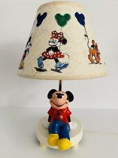 Vintage Walt Disney Mickey Mouse Minnie Goofy Child Nursery Night Light Lamp