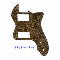 For US Classic telecaster 72 thinline Guitar Pickguard PAF Humbucker Borwn Pearl