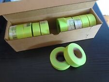FLAGGING / MARKING TAPE-SURVEYING / GROUNDWORKS 12 ROLLS LIME GLO 30 MM X 46 M