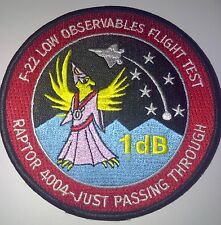 Patch Lockheed F-22 Raptor Low Observables Flight Test