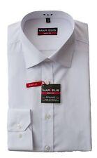 MARVELiS Hemd Weiß Body Fit 100% Baumwolle Bügelleicht 1/1 NEU