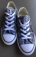 Converse All Star Low Top Paisley Floral Pattern Youth / Big Kid Size 1