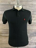 Ferrari Mens Polo Black Size Medium