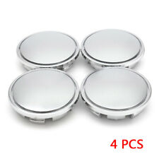 4x Universal Chrome Car Wheel Center Caps Tyre Rim Hub Cap Cover ABS Plastic