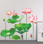 3d Lotus Flower Leaf Wall Sticker Tv Sofa Background Decals Home Room Decoration