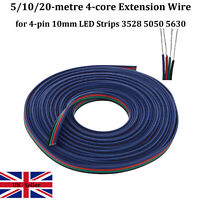 5/10/20M 4 PIN 5050 3528 LED RGB STRIP EXTENSION CONNECTOR ADAPTER CABLE WIRE