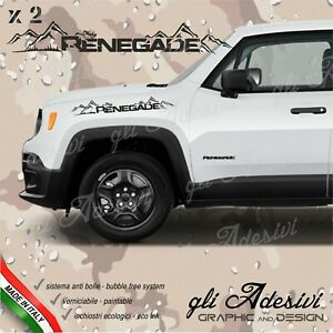 Adhesives Jeep Renegade Mountain For The Bonnet Lateral