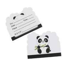 10pcs Panda theme invitations cards kids birthday wedding party invitations<wVCG