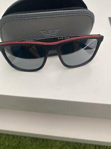 Emporio Armani Men Sunglasses In Black Genuine Great Ondition With Travel Case.